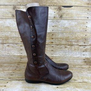 Born Sage Walnut Leather Tall Boots